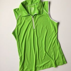 Slazenger Golf green sleeveless top dri-fit Small